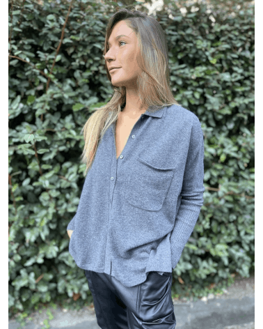 Poncho chemise Andrea - Not Shy - Boutique Clo